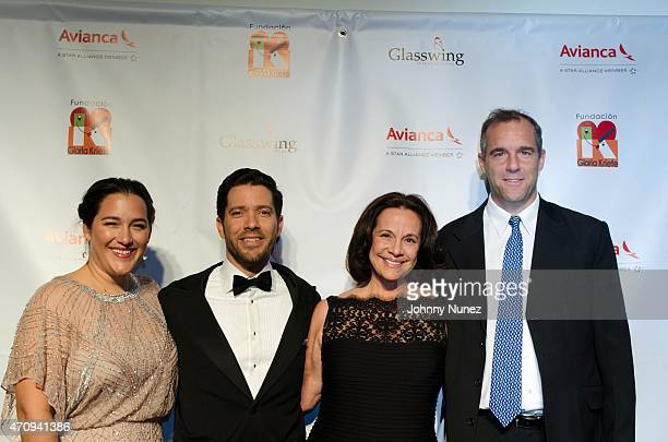 Celina de Sola Diego de Sola Eleonora and Kenneth Baker attend the 2015 Glasswing International Benefit Gala at Tribeca Three Sixty on April 23 in...