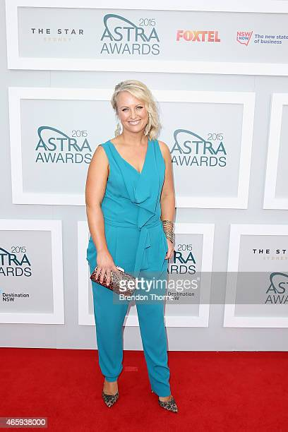 Celina Edmonds arrives at the 2015 ASTRA Awards at the Star on March 12 2015 in Sydney Australia