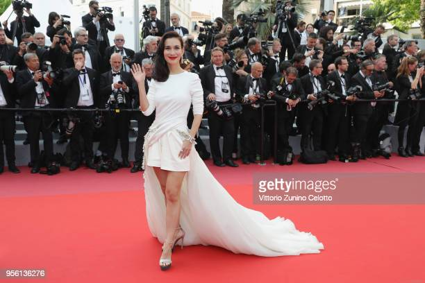 Celina Jade attends the screening of 'Everybody Knows ' and the opening gala during the 71st annual Cannes Film Festival at Palais des Festivals on...