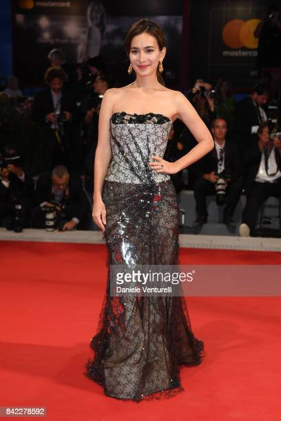Celina Jade from Kineo delegation walks the red carpet ahead of the 'The Leisure Seeker ' screening during the 74th Venice Film Festival at Sala...