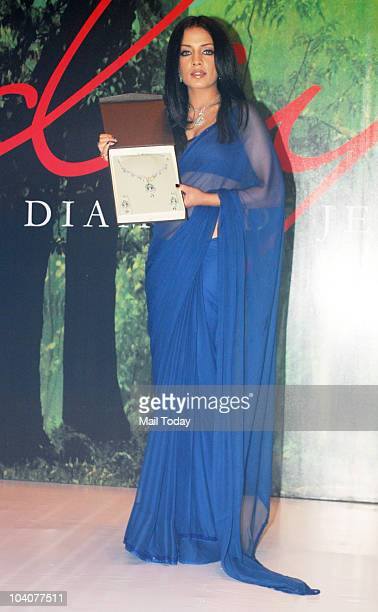 Celina Jaitley during a promotional event for Diya jewellery in Mumbai on September 10 2010