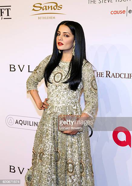 Celina Jaitly attends The Elton John AIDS Foundation's 15th Annual An Enduring Vison Benefit At Cipriani Wall Street on November 2 2016 in New York...