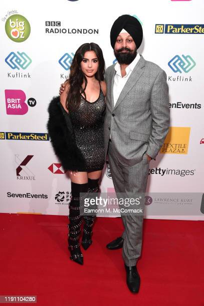 Celina Sharma and Tony Shergill attend the Brit Asia TV Music Awards 2019 at SSE Arena Wembley on November 30 2019 in London England