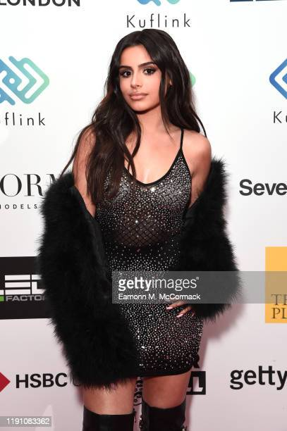 Celina Sharma attends the Brit Asia TV Music Awards 2019 at SSE Arena Wembley on November 30 2019 in London England