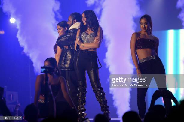 Celina Sharma performs on stage during the Brit Asia TV Music Awards 2019 at SSE Arena Wembley on November 30 2019 in London England