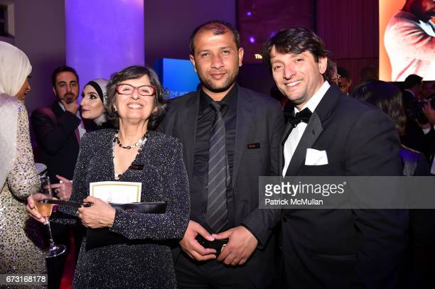 Celina Turchi Martelli Raed Saleh and Pierre Fallo attend the 2017 TIME 100 Gala at Jazz at Lincoln Center on April 25 2017 in New York City