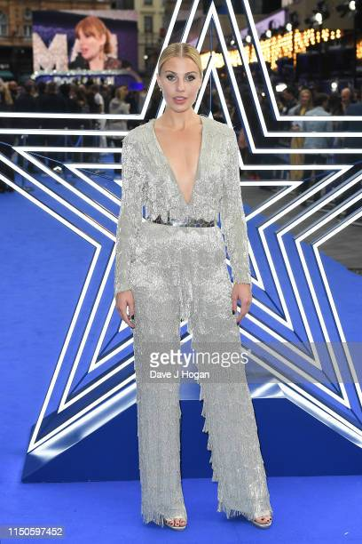 """Celinde Schoenmaker attends the """"Rocketman"""" UK premiere at Odeon Leicester Square on May 20, 2019 in London, England."""