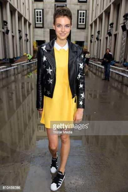 Celine Bethmann attends the Marina Hoermanseder show during the Berliner Mode Salon Spring/Summer 2018 at Kronprinzenpalais on July 7 2017 in Berlin...