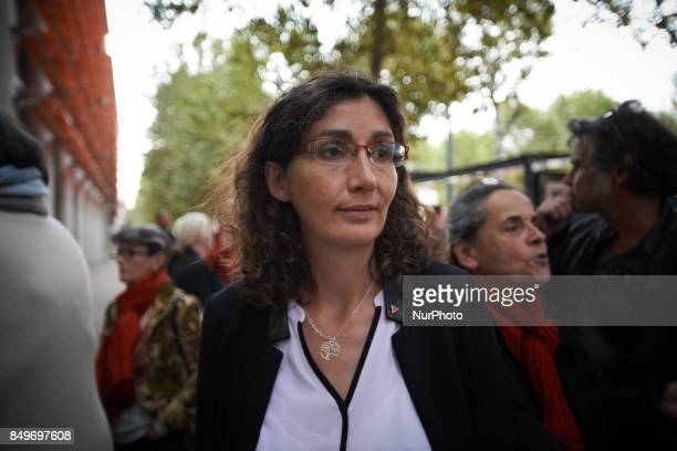 Celine Boussie French whistleblower and president of the association quotHandi'gnezvousquot which she created in 2015 in front of the Toulouse Law...