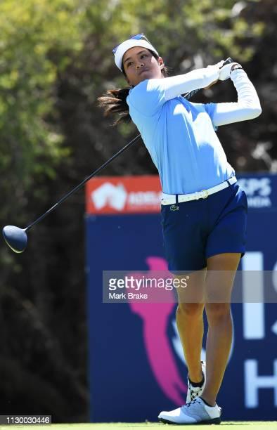 Celine Boutier of France during day three of the 2019 ISPS Handa Women's Australian Open at The Grange GC on February 16 2019 in Adelaide Australia