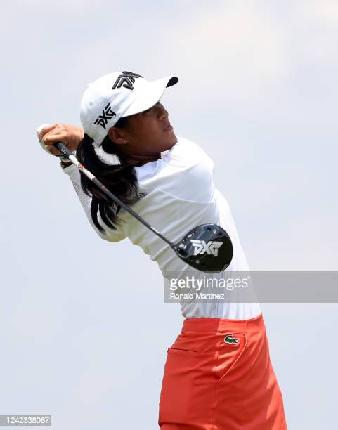 Celine Boutier of France plays her shot from the third tee during the first round of the Energy Producers Inc Texas Women's Open on June 02 2020 in...