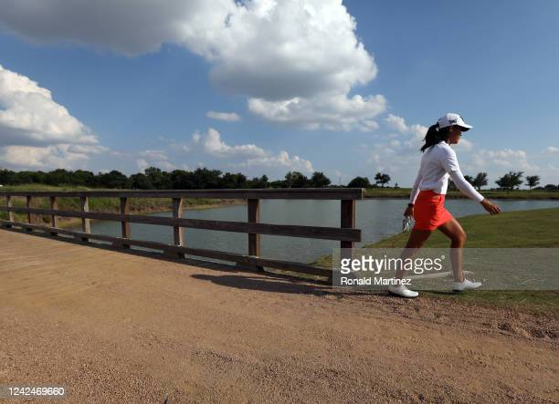 Celine Boutier of France walks to the 18th green during the first round of the Energy Producers Inc Texas Women's Open on June 02 2020 in The Colony...