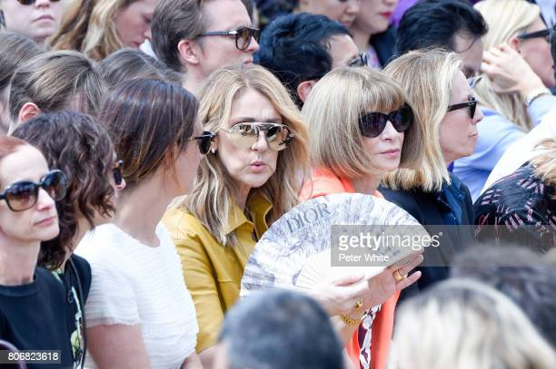 Celine Dion and Anna Wintour attend the Christian Dior Haute Couture Fall/Winter 20172018 show as part of Haute Couture Paris Fashion Week on July 3...