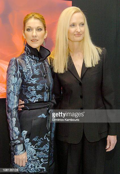 Celine Dion and Anne Geddes during Celine Dion and Anne Geddes Collaborate on a Major New Work Miracle at Sony in New York City New York United States