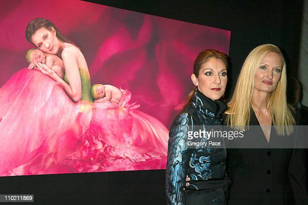 Celine Dion and Anne Geddes during Celine Dion And Renowned Photographer Anne Geddes Celebrate The Release Of Their Unprecedented CD/Book...