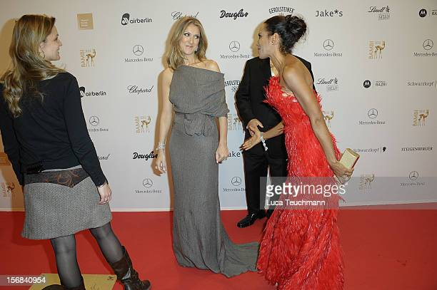 Celine Dion and Barbara Becker attend 'BAMBI Awards 2012' at the Stadthalle Duesseldorf on November 22 2012 in Duesseldorf Germany
