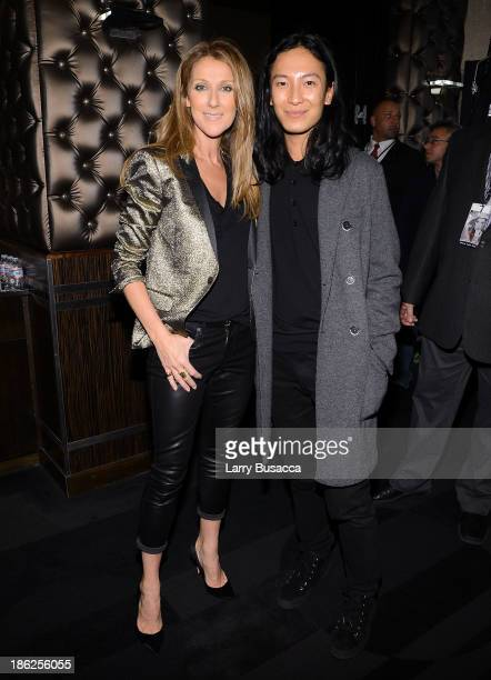 Celine Dion and designer Alexander Wang attend Pandora Presents Celine Dion at The Edison Ballroom on October 29 2013 in New York City