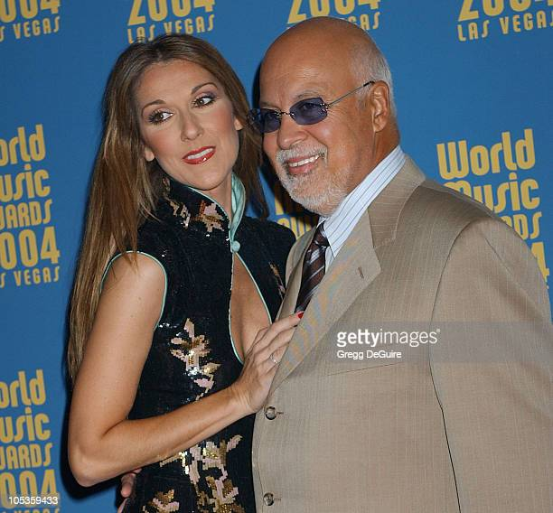 Celine Dion and husband Rene Angelil during 2004 World Music Awards Arrivals at The Thomas and Mack Center in Las Vegas Nevada United States