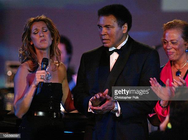 Celine Dion and Muhammad Ali during Celebrity Fight Night at JW Marriott Desert Ridge in Phoenix, AZ, United States.