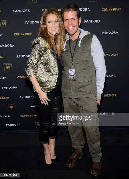 Celine Dion and Perez Hilton attend Pandora Presents Celine Dion at The Edison Ballroom on October 29 2013 in New York City