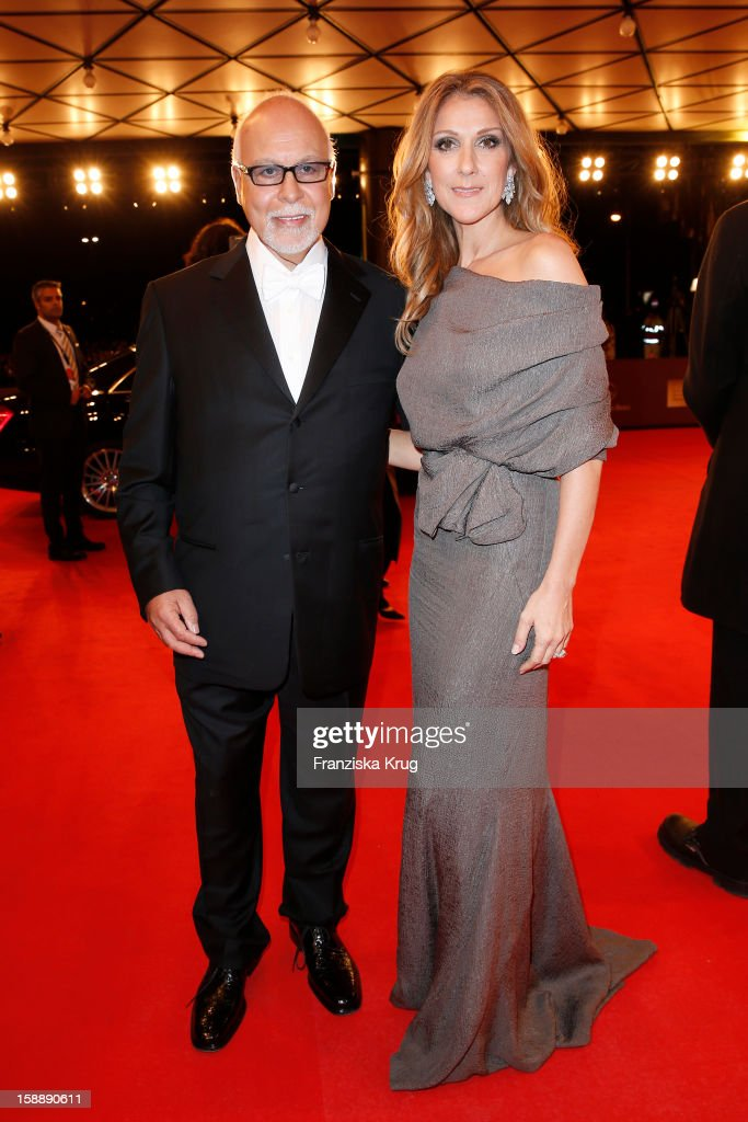 Celine Dion and Rene Angelil attend the 'BAMBI Awards 2012' at the Stadthalle Duesseldorf on November 22, 2012 in Duesseldorf, Germany.