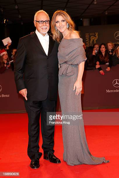 Celine Dion and Rene Angelil attend the 'BAMBI Awards 2012' at the Stadthalle Duesseldorf on November 22 2012 in Duesseldorf Germany