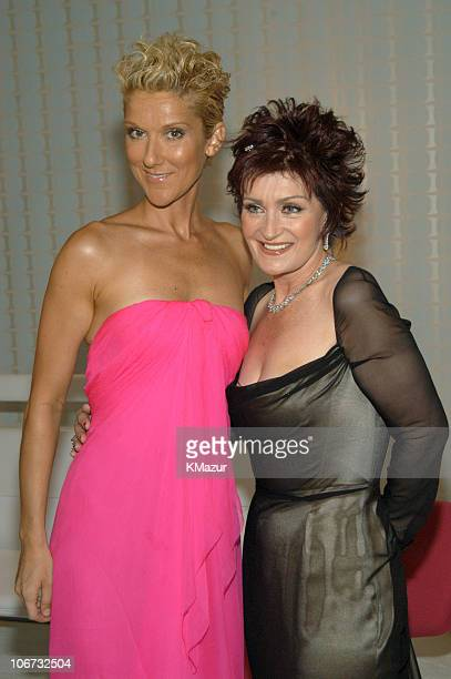 Celine Dion and Sharon Osbourne during VH1 Divas Duets A Concert to Benefit the VH1 Save the Music Foundation Audience and Backstage at MGM Grand...