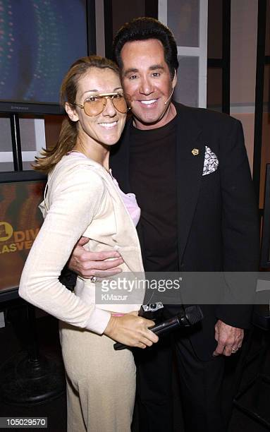 Celine Dion and Wayne Newton during VH1 Divas Las Vegas at the MGM Grand Garden Arena at MGM Grand Garden Arena in Las Vegas Nevada United States