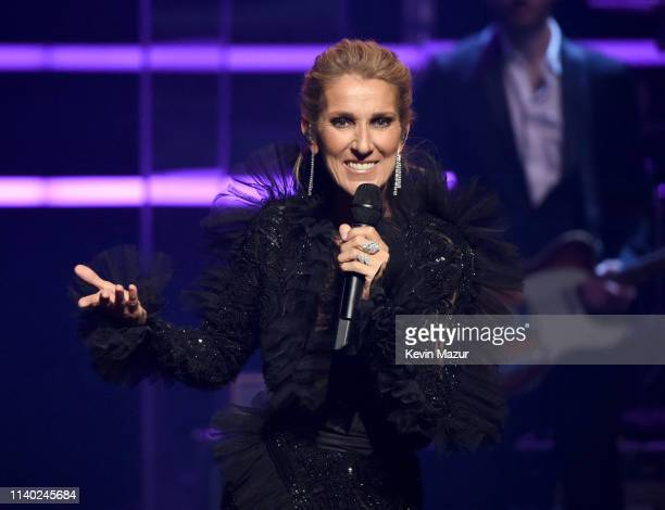 Celine Dion announces COURAGE WORLD TOUR set to kickoff on September 18 during a special live event at The Theatre at Ace Hotel on April 03 2019 in...