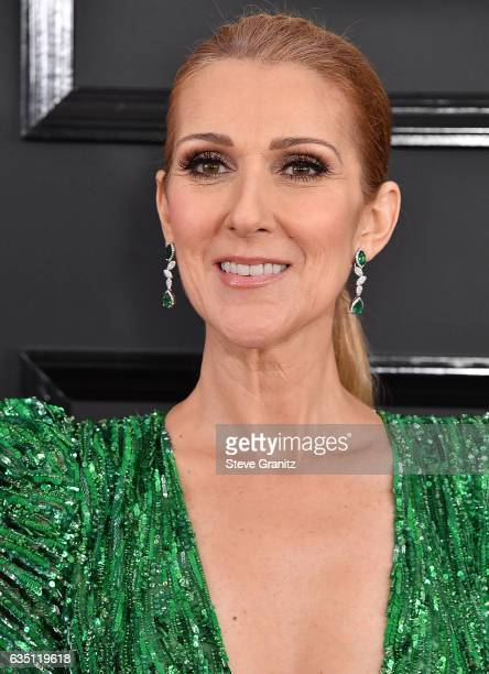Celine Dion arrives at the 59th GRAMMY Awards on February 12 2017 in Los Angeles California