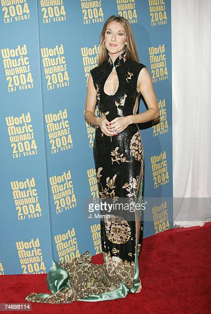 Celine Dion at the 2004 World Music Awards Arrivals at The Thomas and Mack Center in Las Vegas Nevada
