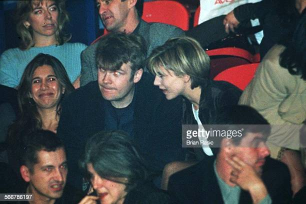Celine Dion At Wembley Arena London Britain 1996 Julia Carling And Boyfriend Rob Stringer