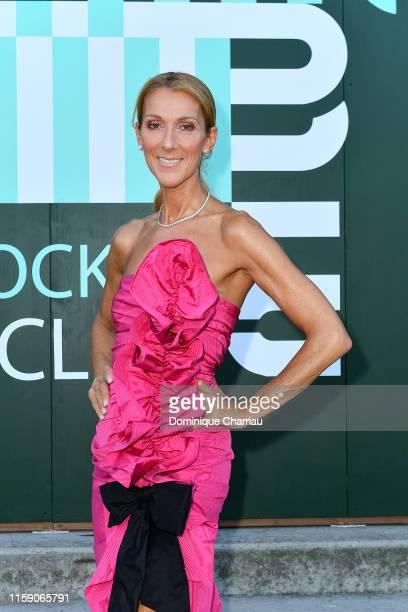Celine Dion attends Miu Miu Club event at Hippodrome d'Auteuil on June 29 2019 in Paris France