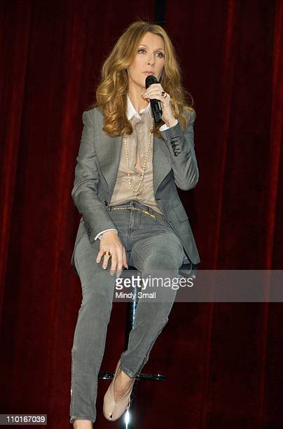 Celine Dion attends news conference at The Colosseum at Caesars Palace on March 15, 2011 in Las Vegas, Nevada.