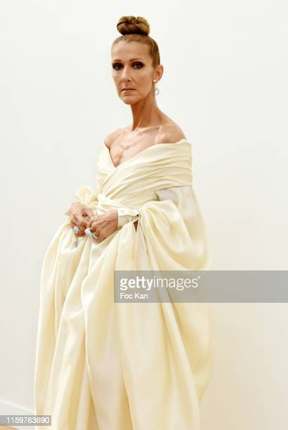 Celine Dion attends the Alexandre Vauthier Haute Couture Fall/Winter 2019 2020 show as part of Paris Fashion Week on July 02 2019 in Paris France