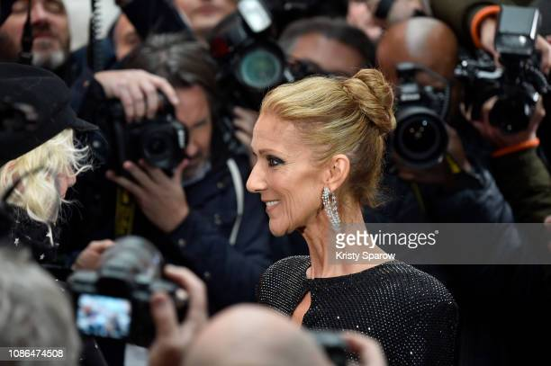 Celine Dion attends the Alexandre Vauthier Haute Couture Spring Summer 2019 show as part of Paris Fashion Week on January 22 2019 in Paris France