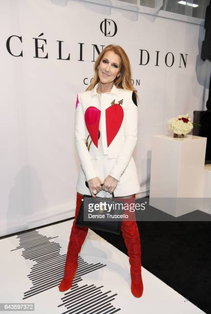 Celine Dion attends the Celine Dion Collection First Handbag and Accessory Collection press conference at Project Womens at Mandalay Bay on February...
