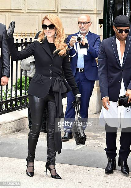 Celine Dion attends the Christian Dior Haute Couture Fall/Winter 20162017 show as part of Paris Fashion Week on July 4 2016 in Paris France 'n'n
