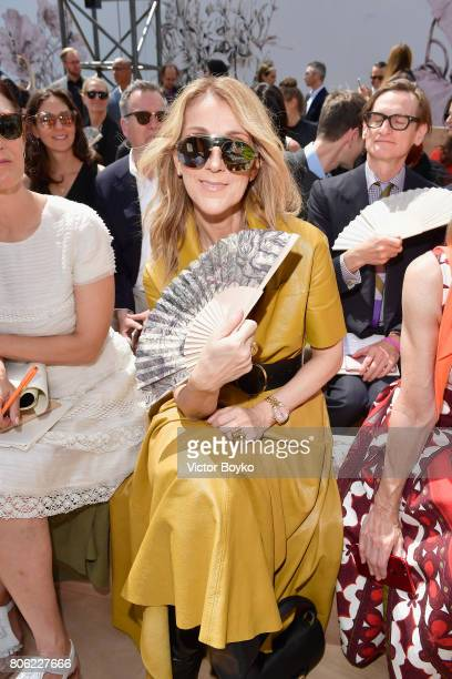 Celine Dion attends the Christian Dior Haute Couture Fall/Winter 20172018 show as part of Haute Couture Paris Fashion Week on July 3 2017 in Paris...