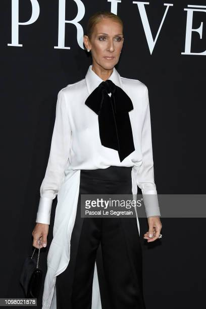 Celine Dion attends the Giorgio Armani Prive Haute Couture Spring Summer 2019 show as part of Paris Fashion Week on January 22 2019 in Paris France