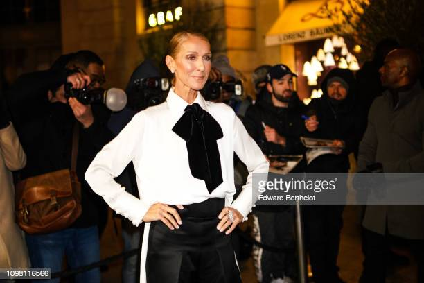 Celine Dion attends the Giorgio Armani Prive show during Paris Fashion Week Haute Couture Spring Summer 2020 on January 22 2019 in Paris France