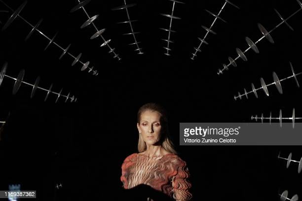 Celine Dion attends the Iris Van Herpen Haute Couture Fall/Winter 2019 2020 show as part of Paris Fashion Week on July 01 2019 in Paris France