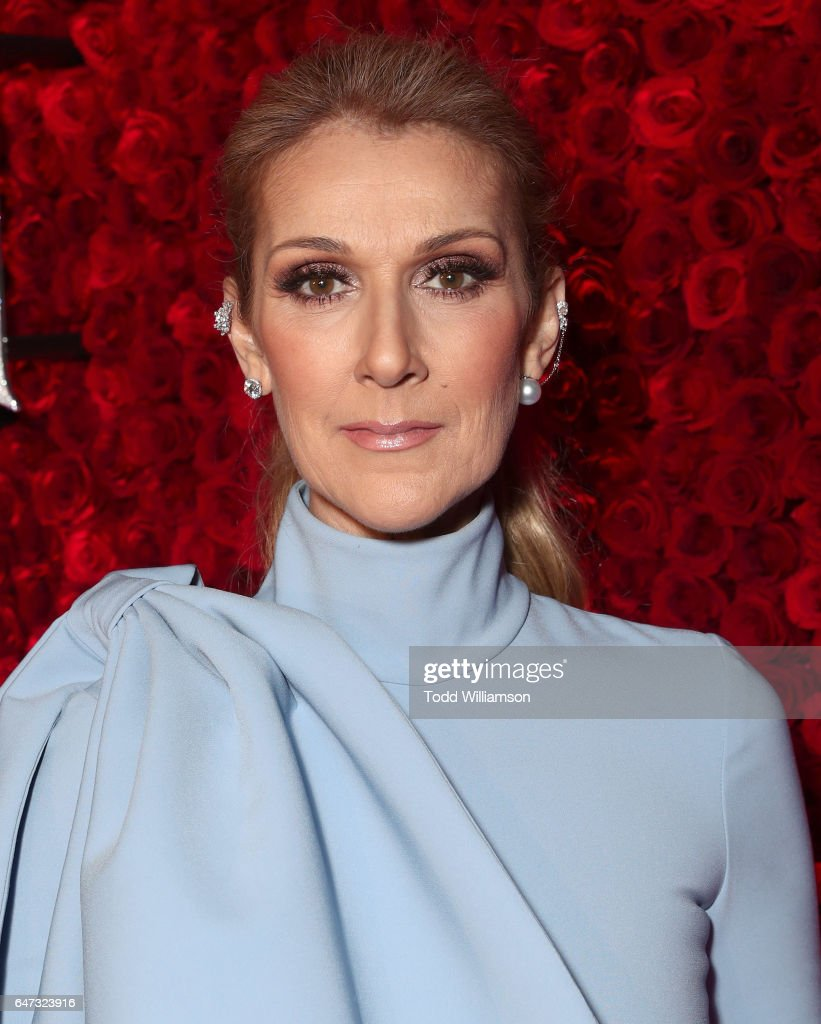 Celine Dion attends the premiere of Disney's 'Beauty And The Beast' at El Capitan Theatre on March 2, 2017 in Los Angeles, California.