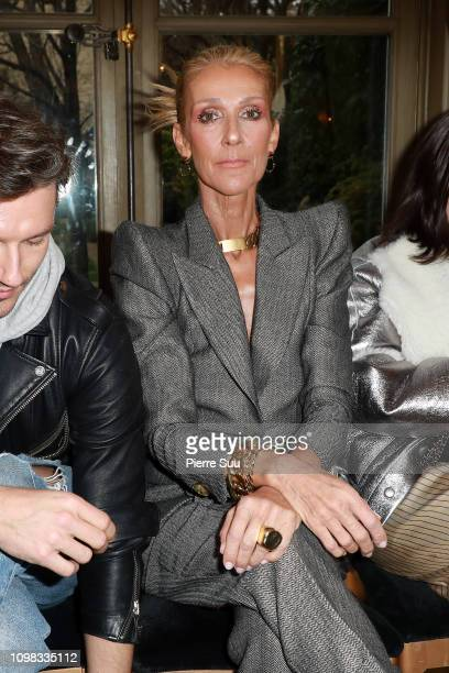 Celine Dion attends the RVDK Ronald Van Der Kemp Haute Couture Spring Summer 2019 show as part of Paris Fashion Week on January 23 2019 in Paris...