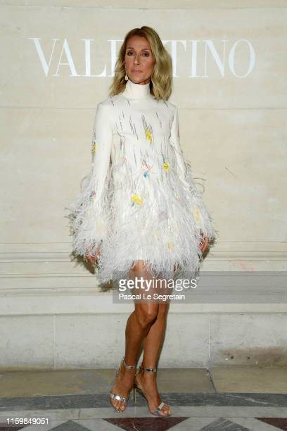 Celine Dion attends the Valentino Haute Couture Fall/Winter 2019 2020 show as part of Paris Fashion Week on July 03 2019 in Paris France