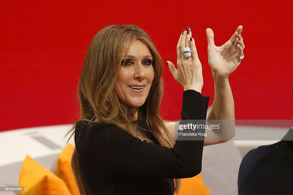 Celine Dion attends Wetten, dass..? from Halle an der Saale on November 9, 2013 in Halle an der Saale, Germany.