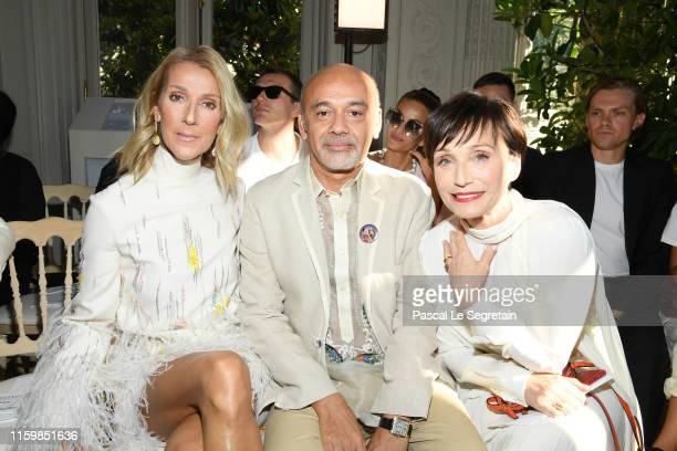 Celine Dion, Christian Louboutin and Kristin Scott Thomas attend the Valentino Haute Couture Fall/Winter 2019 2020 show as part of Paris Fashion Week...