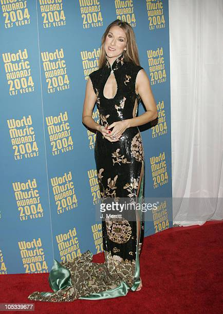 Celine Dion during 2004 World Music Awards Arrivals at The Thomas and Mack Center in Las Vegas Nevada United States