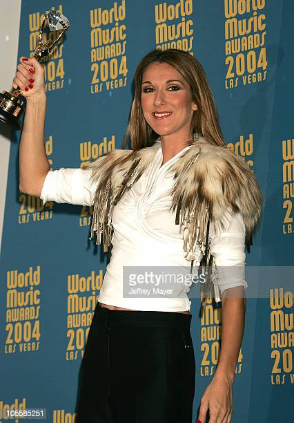 Celine Dion during 2004 World Music Awards Press Room at Thomas and Mack Center in Las Vegas Nevada United States