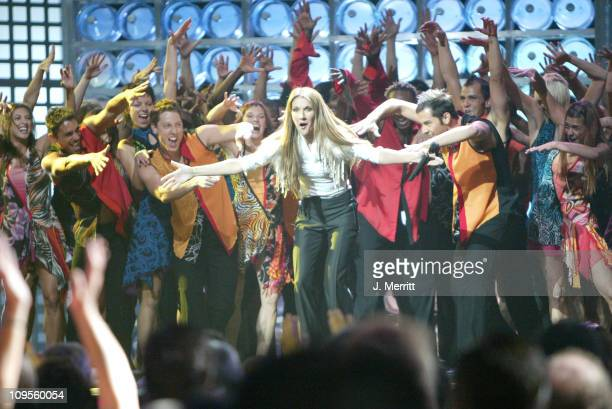 Celine Dion during 2004 World Music Awards Show at The Thomas and Mack Center in Las Vegas Nevada United States